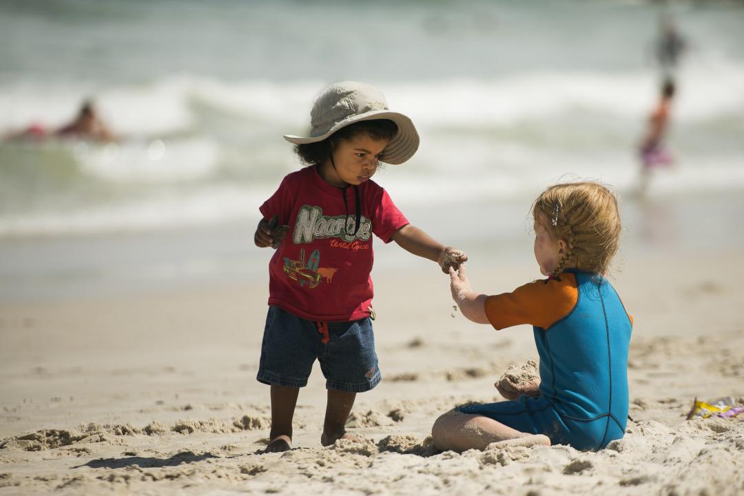 children on beach Cape Town